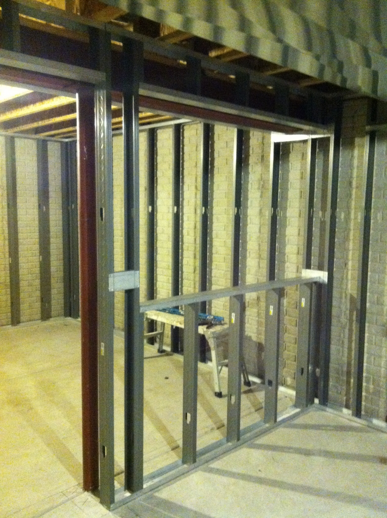 Metal Stud Wall Framing Finished Basements West Bend Wi